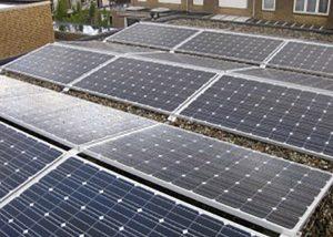 Petec Solar Geleen zonnepanelen Oost-West gerichte opstelling
