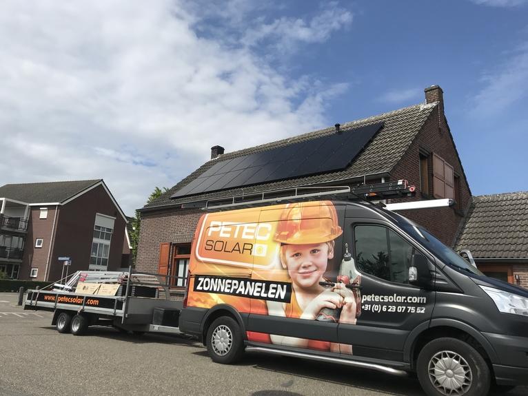 Petec Solar bedrijfswagen Limburg
